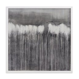 """The Forest, 24"""" X 24"""", White Wood Frame, Moody Grey, Standard Plexi & Materials, Standard Borders and Matting"""