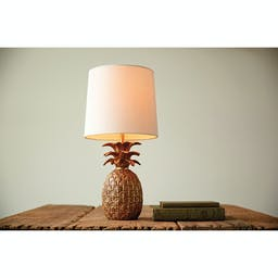 Warm Welcome Pineapple Table Lamp Gold
