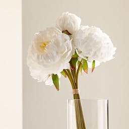 Artificial White Peony Bunch