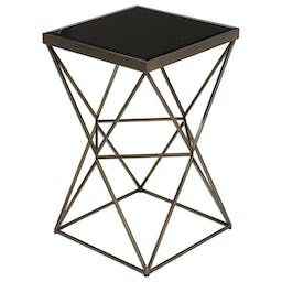Uberto Caged Frame Accent Table Bronze