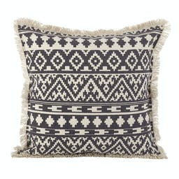 Fringed Aztec Pillow - Down Filled