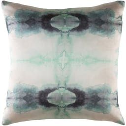 """Darby Pillow Shell with Polyester Insert, 18"""" x 18"""", Mint"""