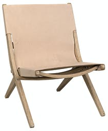 Caedo Chair, Distressed Mindi with Leather Washed Distressed