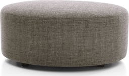 """Syd 38"""" Round Cocktail Ottoman, Mystic Mineral"""