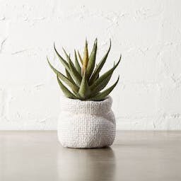 """Potted Faux Aloe Plant 6"""""""