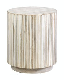 East Haven Round Accent Table Bleached