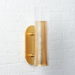 Striae Ribbed Glass Wall Sconce