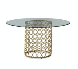 Clarke Dining Table Gold