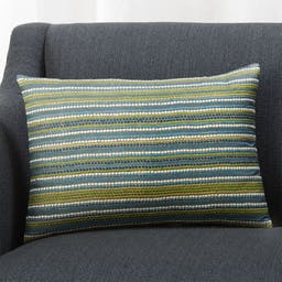 Pascal 18x12 Striped Pillow with Down-Alternative Insert