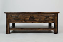 Aria Valley Three Drawer Cocktail Table Brown