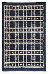 Oliver Navy Woven Wool Rug, 5'x8'