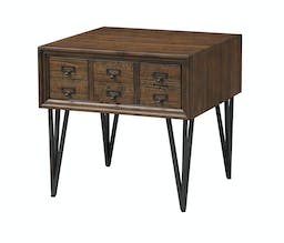 Oxford One Drawer End Table Brown