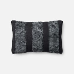 Channelled Fur Pillow Grey
