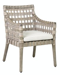 Penelope Arm Chair with Cushion Grey Wash
