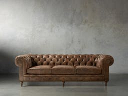 Wessex Leather Sofa, Bronco Whiskey