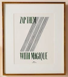 Zap Them with Magique Wall Art, Green, One Size