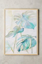 Tropicales Wall Art, Turquoise, One Size