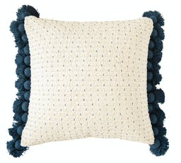Meandering Woven Pillow Navy