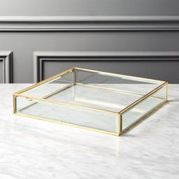 Small Brass and Glass Tray