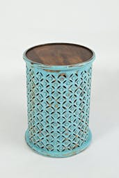 Pacey Archive Drum Table Turquoise
