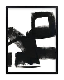 """Untitled 1, 18"""" X 24"""", Rich Black Wood Frame, Black and White, Standard Plexi & Materials, Standard Borders and Matting"""