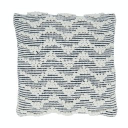 Chevron Textured Throw Pillow With Poly Filling