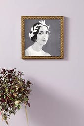 Young Lady Wall Art, Gold Bead