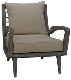 Pearson Chair with Brass Bars, Distressed Grey