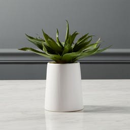 """Potted Faux Aloe 9"""""""