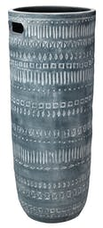 Large Zion Ceramic Vase in Grey and White Grey/White