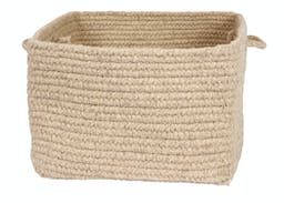 Chunky Natural Wool Dipped Basket Small Light Beige