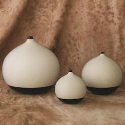 Pixelated Ball Vase- Small Black/Brown