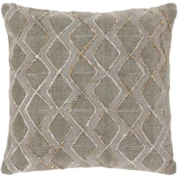 Hexal Pillow Shell with Polyester, Light Grey