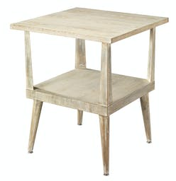 Arlo Side Table in Grey Washed Wood