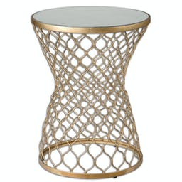 Naeva End Table Gold