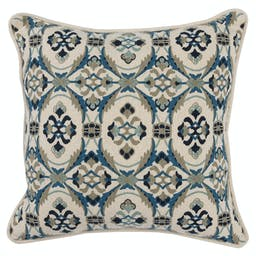 Willa Navy Blue Square Pillow Blue