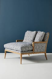 Florence Chaise, Blue, One Size