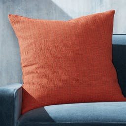 """Liano Orange Monochrome Pillow with Feather-Down Insert 23"""""""