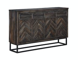 Rees Court Four Door Four Drawer Media Cabinet Brown