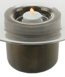 """Annetta Candle Holder with Wooden Base 9.75"""""""