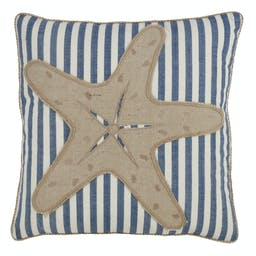 Striped Starfish Pillow - Down Filled