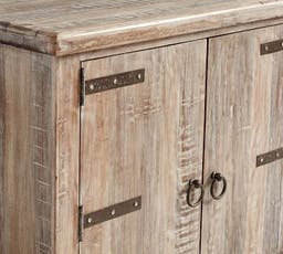 """Kaplan 72"""" Reclaimed Wood Media Console, Reclaimed White Wash"""