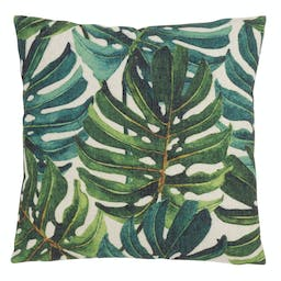 Split Leaf Philodendron Pillow - Poly Filled