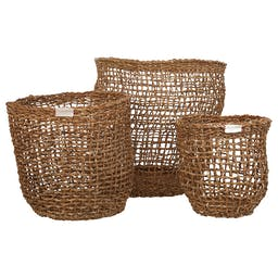 Antony Seagrass Baskets (Set of 3) Natural
