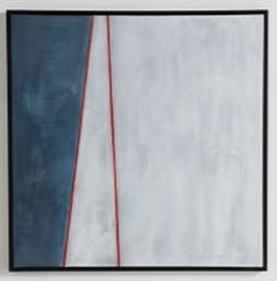 Blue White Red Wall Art, Red Motif, Large