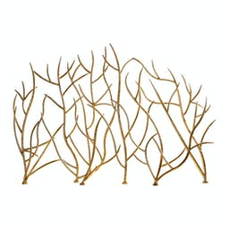 Branches Decorative Fireplace Screen Gold