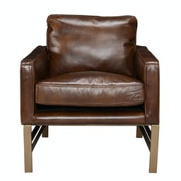 Leather Club Chair Brown