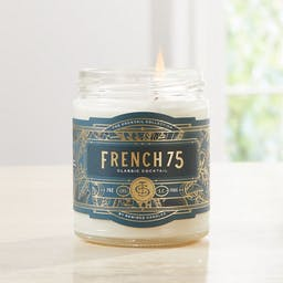 Rewined French 75 Cocktail Candle