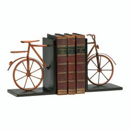 Bicycle Bookends Brown-Bronze-Rust