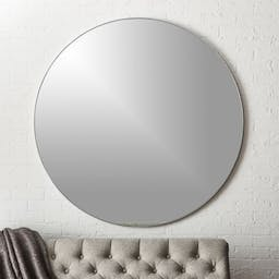 """Infinity Silver Round Wall Mirror 48"""""""